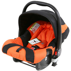 i-Safe System - Orange Trio Travel System Pram & Luxury Stroller 3 in 1 Complete With Car Seat + Rain Covers - Baby Travel UK  - 8