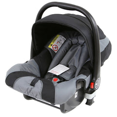i-Safe System - Grey Trio Travel System Pram & Luxury Stroller 3 in 1 Complete With Car Seat + Rain Covers - Baby Travel UK  - 12