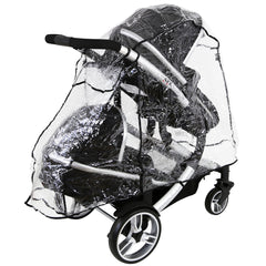 Rain Cover For Jane Twone Twin Matrix Light 2 Pushchair - Baby Travel UK  - 4