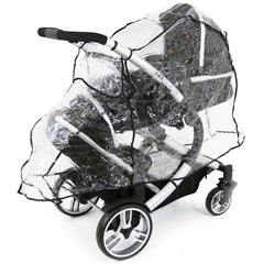 Rain Cover For Jane Twone Twin Matrix Light 2 Pushchair - Baby Travel UK  - 3