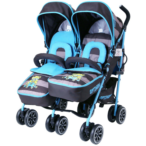 Designer Twin Buggy Baby Pram Optimum - iDiD iT