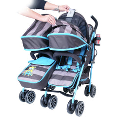 Designer Twin Buggy Baby Pram Optimum - iDiD iT - Baby Travel UK  - 7