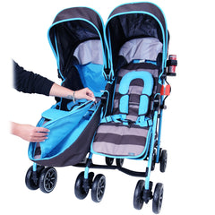 Designer Twin Buggy Baby Pram Optimum - iDiD iT - Baby Travel UK  - 9