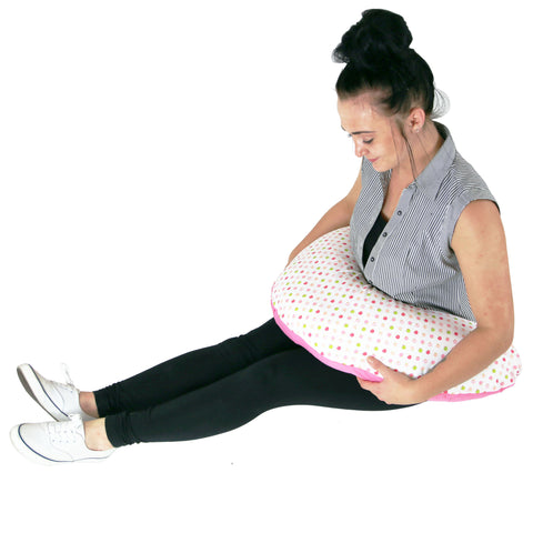 Extra Pregnancy Support Maternity and Breast Feeding Pillow + (Apple Land)
