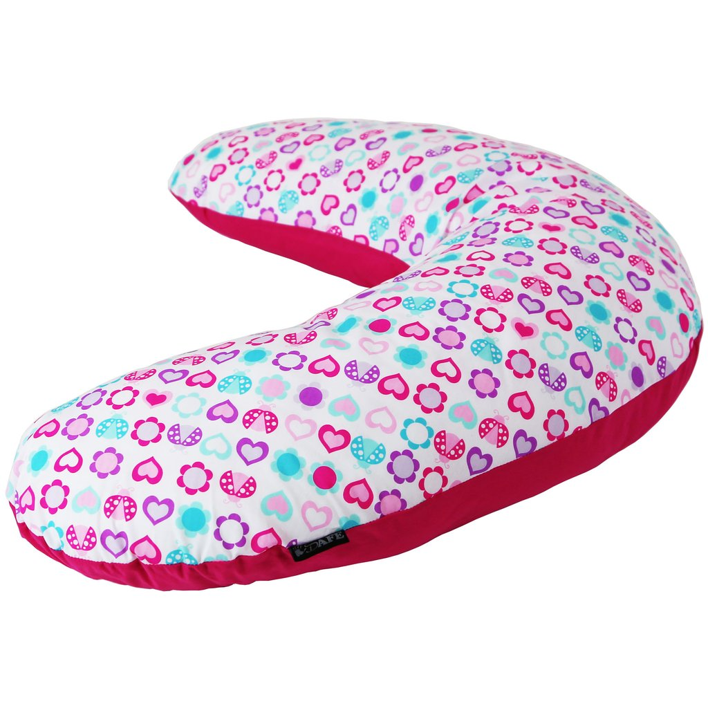 Maternity Pregnancy Breast Feeding Pillow + Pillow Case (Love Bug)