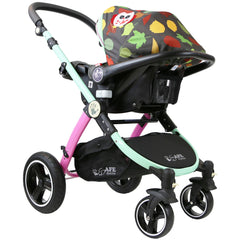 i-Safe System - Owl & Button Trio Travel System Pram & Luxury Stroller 3 in 1 Complete With Car Seat And Rain Covers & Foot Muffs - Baby Travel UK  - 13