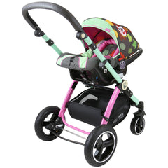 i-Safe System - Owl & Button Trio Travel System Pram & Luxury Stroller 3 in 1 Complete With Car Seat And Rain Covers & Foot Muffs - Baby Travel UK  - 12