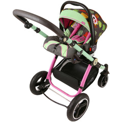 iSafe System - Owl & Button Trio Travel System Pram & Luxury Stroller 3 in 1 Complete With Car Seat - Baby Travel UK  - 9