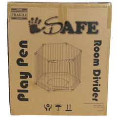 iSafe Metal Baby Playpen 3in1 Fire Guard Room Divider Safety Gate - Baby Travel UK  - 5