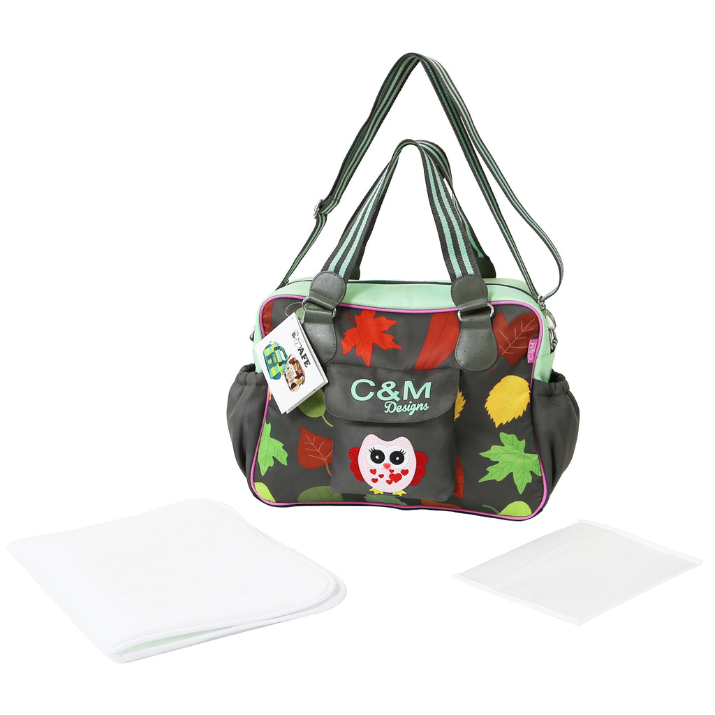 iSafe Changing Bag Luxury Quality (New Design ) - Owl & Button - Baby Travel UK  - 1
