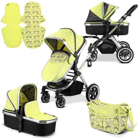 iVogue - Pear Luxury 2in1 Pram Stroller Travel System By iSafe (2017 - 2018)