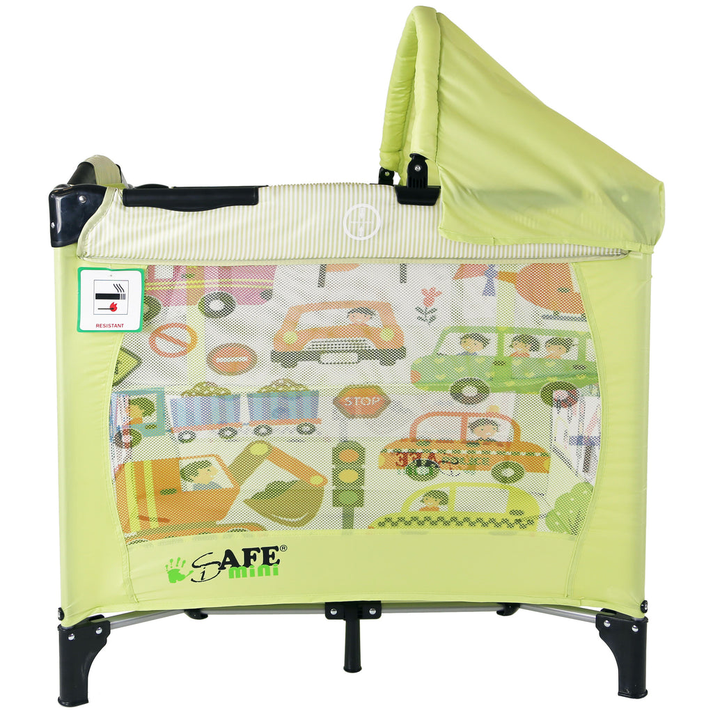 iSafe Mini Travel Cot With Bassinet and Canopy - City Break 81 x 56 x 84 cm - Baby Travel UK  - 1