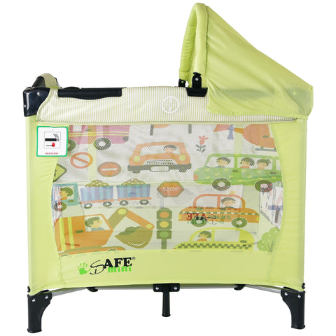 iSafe Mini Travel Cot With Bassinet and Canopy - City Break 81 x 56 x 84 cm