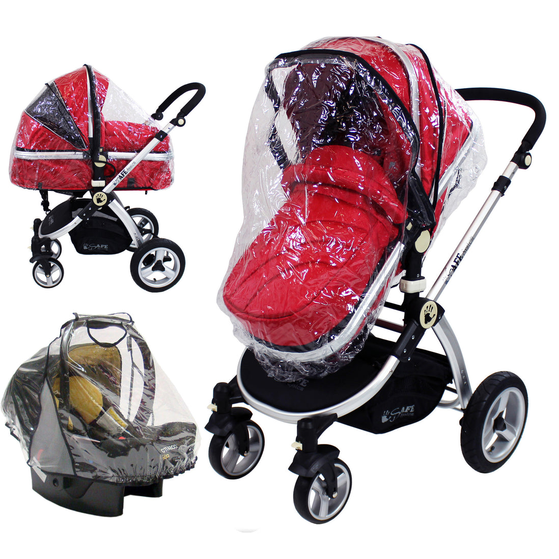 PVC RAINCOVER TO FIT QUINNY BUZZ CARRYCOT PRAM BODY