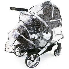 iSafe Tandem Pram me&you - 2 Tone Red (Red) + X 2 Rain Cover - Baby Travel UK  - 8