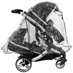 iSafe Tandem Pram me&you - Plum (Purple) + All Raincovers - Baby Travel UK  - 9