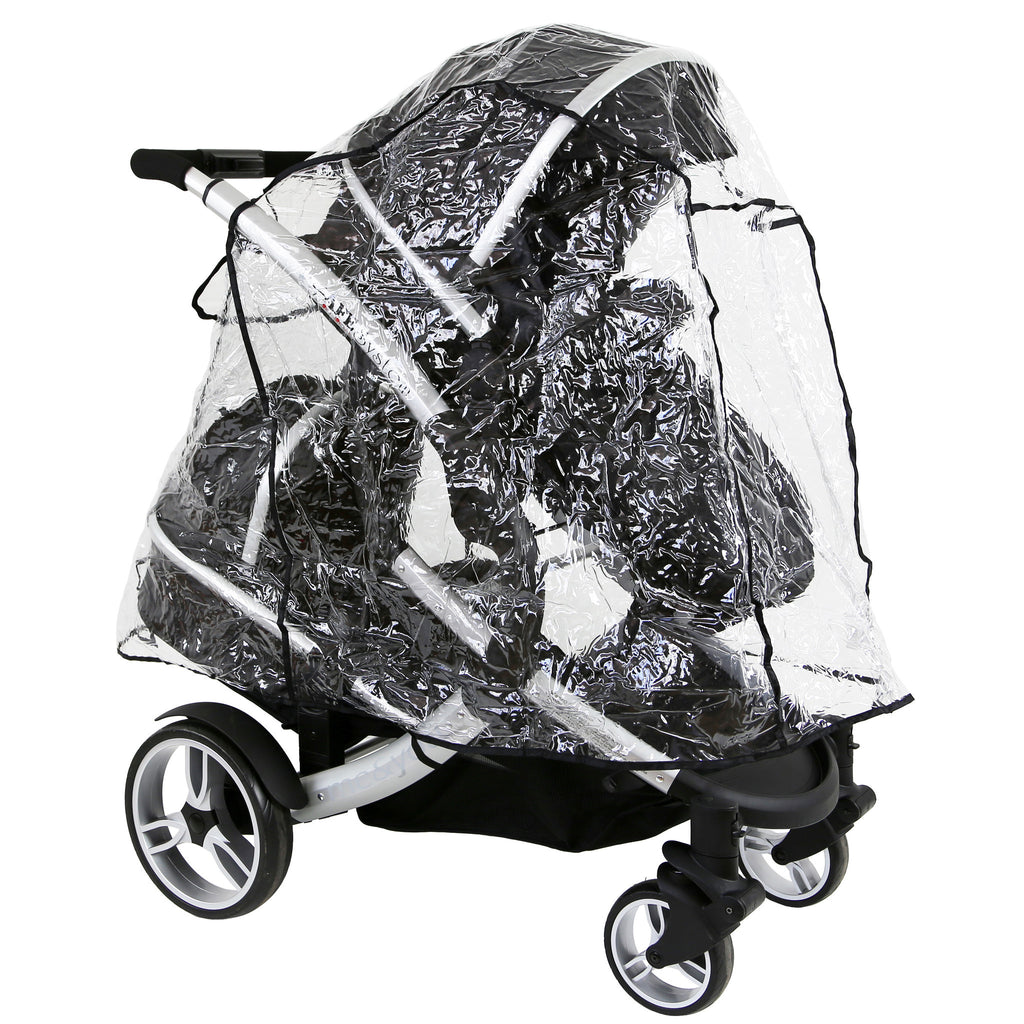 iSafe Tandem Pram me&you - Warm Red (Red) + All Raincovers - Baby Travel UK  - 9