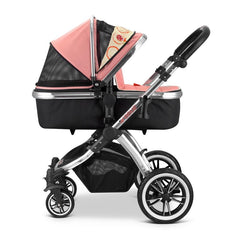 iVogue - Peach Luxury 2in1 Pram Stroller Travel System By iSafe (2017 - 2018) - Baby Travel UK  - 2