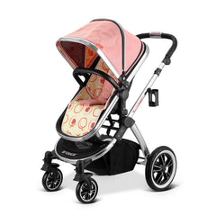iVogue - Peach Luxury 2in1 Pram Stroller Travel System By iSafe (2017 - 2018) - Baby Travel UK  - 3