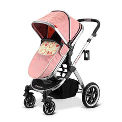 iVogue - Peach Luxury 2in1 Pram Stroller Travel System By iSafe (2017 - 2018) - Baby Travel UK  - 9
