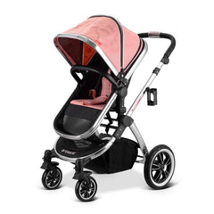 iVogue - Peach Luxury 2in1 Pram Stroller Travel System By iSafe (2017 - 2018) - Baby Travel UK  - 10