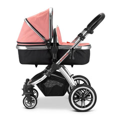 iVogue - Peach Luxury 2in1 Pram Stroller Travel System By iSafe (2017 - 2018) - Baby Travel UK  - 13