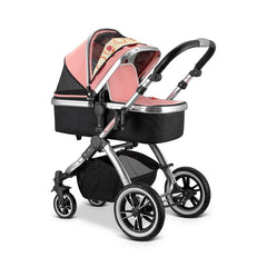 iVogue - Peach Luxury 2in1 Pram Stroller Travel System By iSafe (2017 - 2018) - Baby Travel UK  - 14