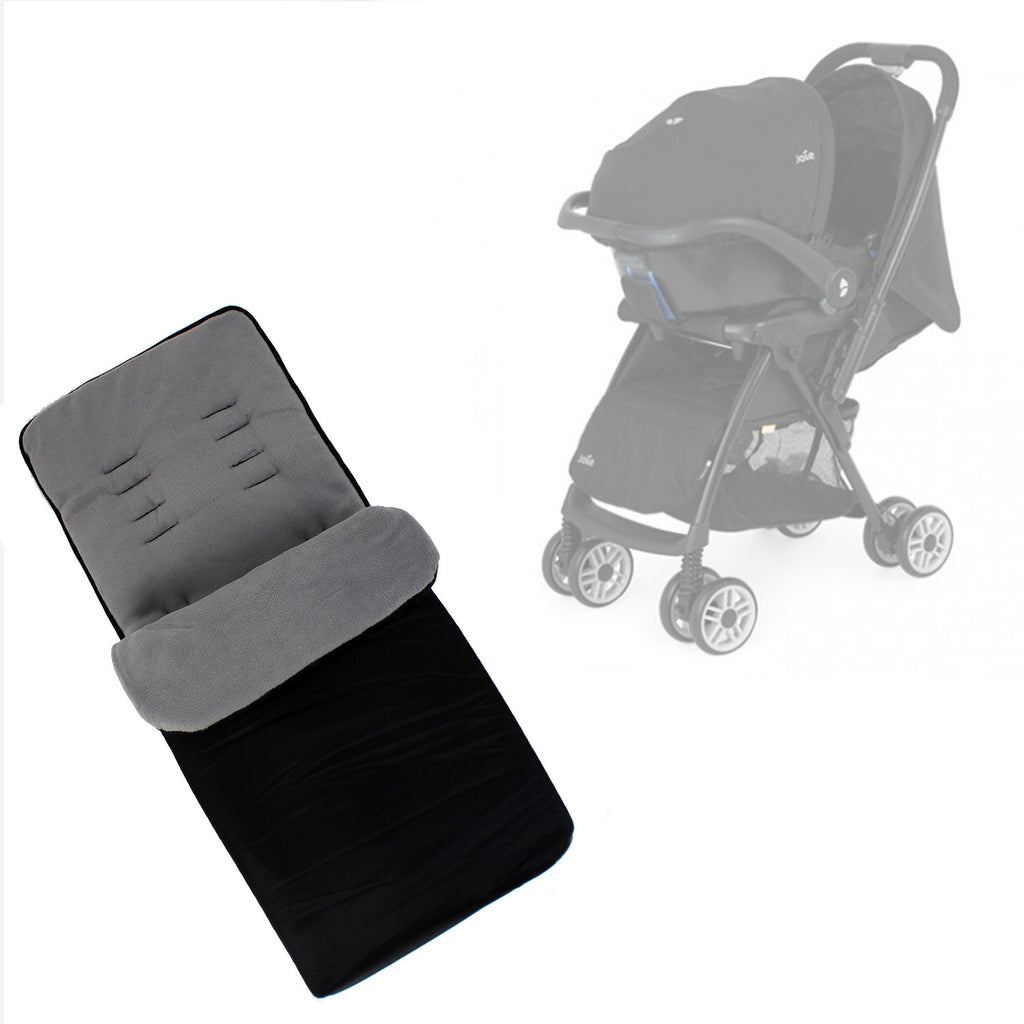 Buddy Jet Foot Muff Grey Suitable For Joie Mirus Travel System (Black Ink) - Baby Travel UK  - 1