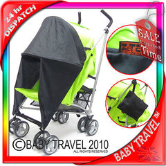 Sunny Sail 3 Wheeler Hauck Citi Stroller Buggy Pram Shade Parasol Substitute - Baby Travel UK  - 4