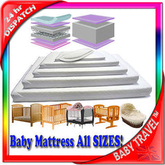 New Baby Travel Mattress Spring Foam For Cot Cotbed Swinging Crib Moses Basket - Baby Travel UK  - 1