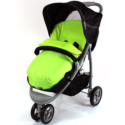 Deluxe Universal Footmuff to fit Hauck Miami  - Lime