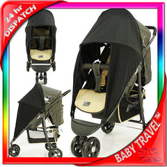 Sunny Sail 3 Wheeler Hauck Citi Stroller Buggy Pram Shade Parasol Substitute - Baby Travel UK  - 2