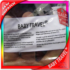 Rain Cover To Fit Icandy Apple, Cherry, Pear, Peach, Professional, Heavy Duty - Baby Travel UK  - 3
