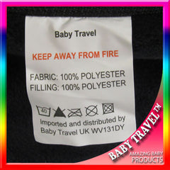 New Pushchair Footmuff To Fit Silver Cross Pop - Black - Baby Travel UK  - 3