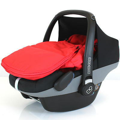 Universal Car Seat Footmuff Cosy Toes Warm Red
