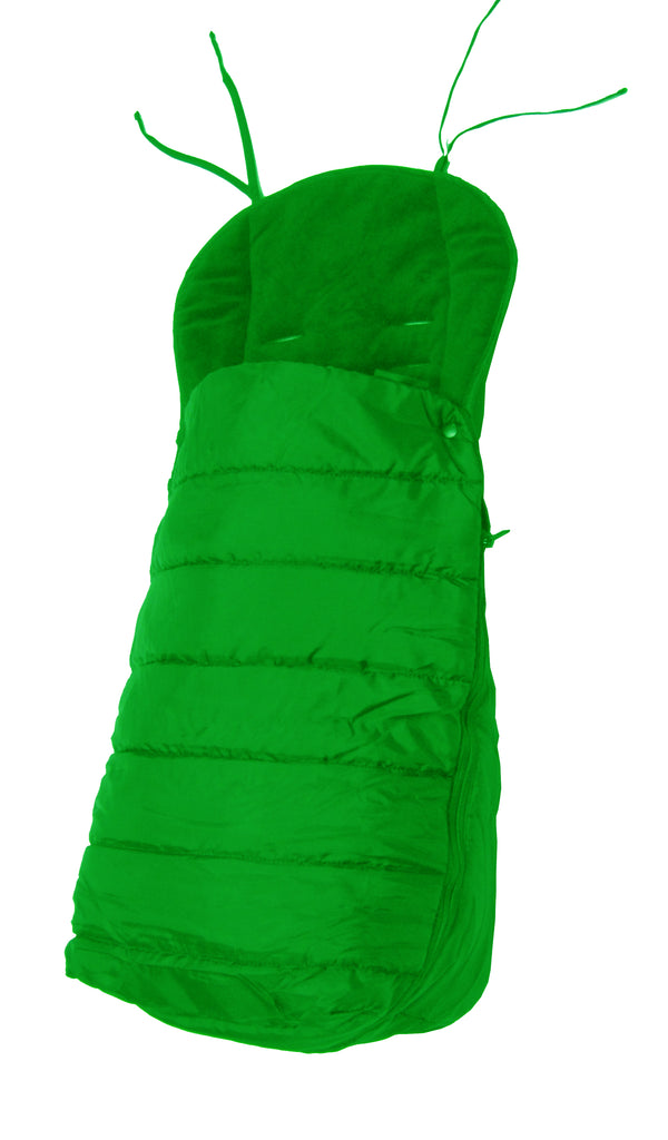 Universal Deluxe 2 In 1 Footmuff - Leaf (Green) - Baby Travel UK  - 1
