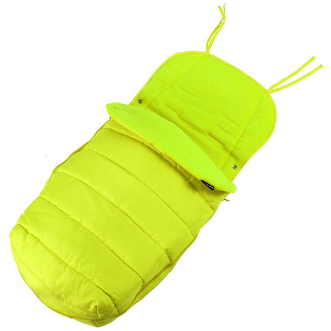 XXL Large Luxury Foot-muff And Liner For Maclaren Techno XT - Lime (Green)