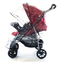 Raincover For Shopper Pushchair Buggy Pram Hauck Jeep - Baby Travel UK  - 1