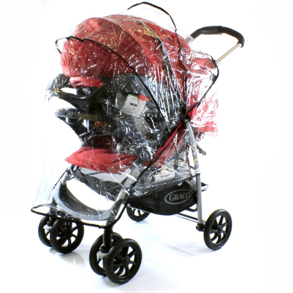 Universal Raincover Hauck Shopper 6 Buggy Pushchair Ventilated Top Quality - Baby Travel UK  - 1