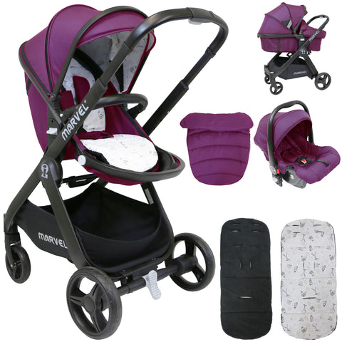 iSafe 3 Mode Marvel Travel System and Carseat - Marrone