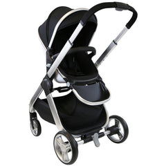 Marvel 3in1 Pram - Black Pearl Pram Travel System (+ Luxury Carrycot + Car Seat) - Baby Travel UK  - 3
