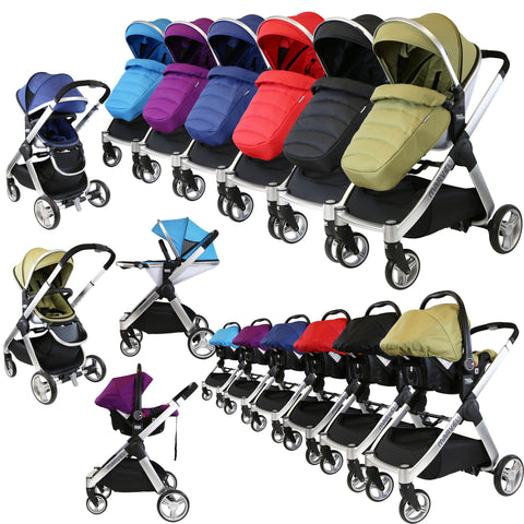 iSafe Marvel 2in1 Pram - Travel System (With Car Seat)