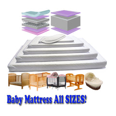Baby Travel Mattress Spring Foam for Cot CotBed Swinging Crib Moses Basket - Baby Travel UK  - 9