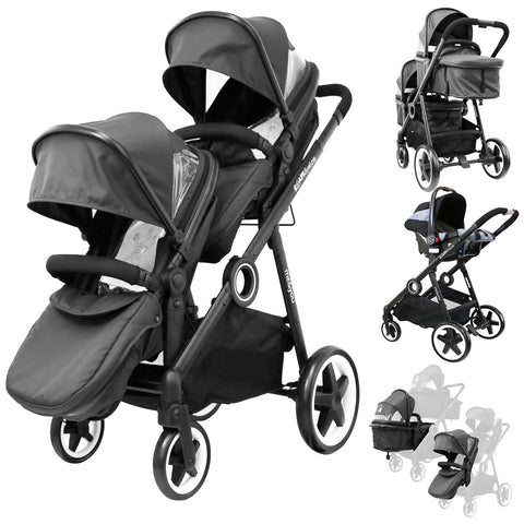 iSafe Me&You INLINE Black - With Second Seat & Car Seat