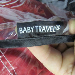 Rain Cover To Fit OBaby Monty Travel System (Black/Red) - Baby Travel UK  - 3