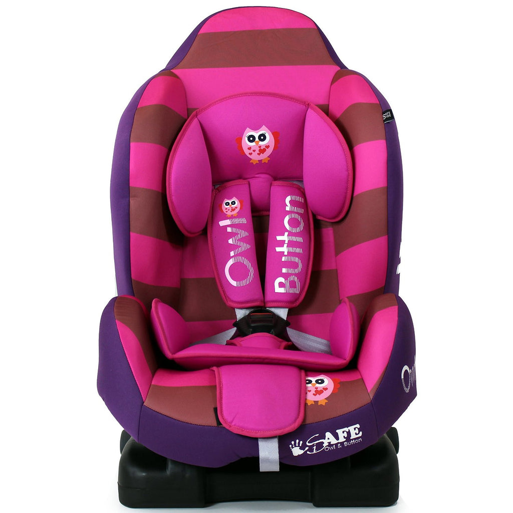NEW iSafe iSOFIX Comfy Padded CARSEAT GROUP 1 - 9months - 4 years - Button Owl - Baby Travel UK  - 1