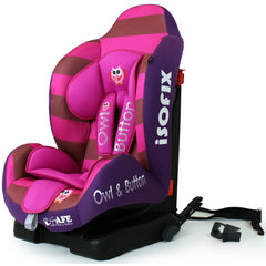 NEW iSafe iSOFIX Comfy Padded CARSEAT GROUP 1 - 9months - 4 years - Button Owl - Baby Travel UK  - 2