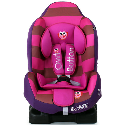 iSafe Multi Recline Isofix Car Seat Carseat Button Owl Group 1 9mths- 4yrs