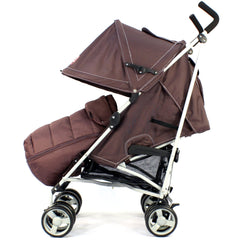 New Zeta Vooom Hot Chocolate + Mc Large Padded Footmuff Liner Stroller Pushchair - Baby Travel UK  - 6