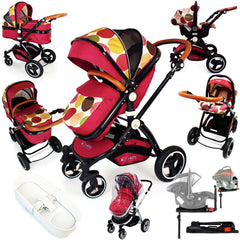 iSafe Baby Pram System 3 in 1 Complete With Bedding - C&M Designs Complete Package - Baby Travel UK  - 1